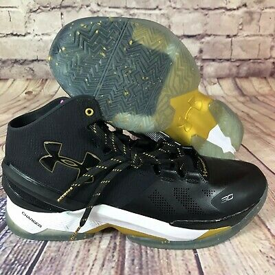 8c5f46db54a Under Armour Curry 2 LE Elite Limited Edition 1280303-001 Black Gold MVP Sz