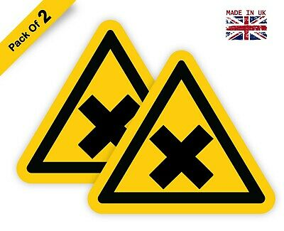 Warning Sign Beware of Biohazard Safety Adhesive Sticker 150mm x 150mm WN019