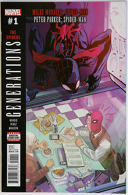 Generations Spider-Man Mike Morales Peter Parker #1 The Spiders - Marvel Comics