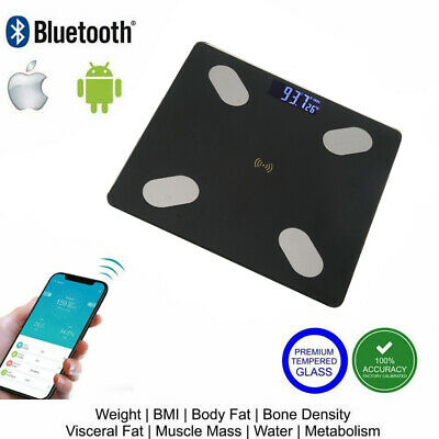 Bluetooth DIGITAL Body Fat Bathroom Weight Scale with iOS & Android App Wireless