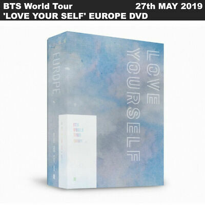 BTS World Tour 'LOVE YOUR SELF' EUROPE DVD 2Discs+Photobook+Photocard+Etc+#