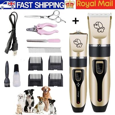 Pet Dog Cat Grooming Clippers Hair Trimmer Groomer Shaver Razor And Scissors Set