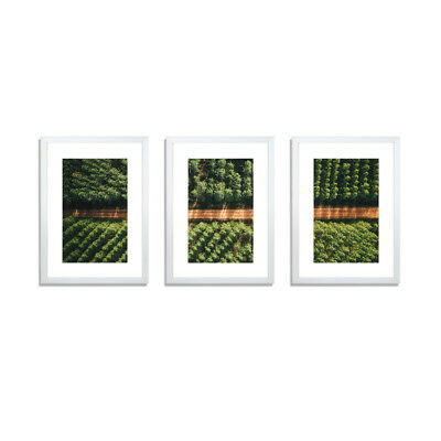 3 PCS Photo Frame Wall Set A3 A4 Picture Collage Home Decor Gift Present White