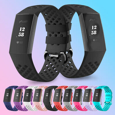 Smart Bracelet Watch Strap Band Replacement For Fitbit Charge 3 Wrist UK