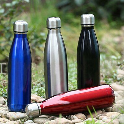Stainless Steel, Double Wall, Vacuum Insulated, Cola Shaped Thermos Bottle BF