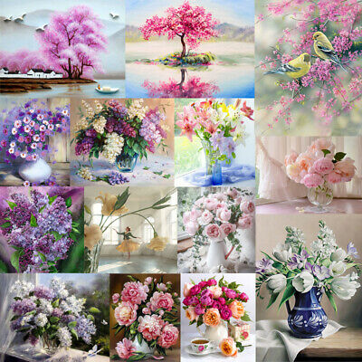 DIY Paint By Number Kit Digital Acrylic Oil Painting Flower Home Art Wall Decor