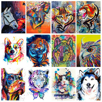 DIY Paint By Number Kit Digital Oil Painting Artork Wall Home Decor Cute Animal