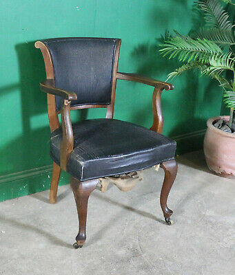 Antique Desk/Elbow Chair, Mahogany, Vintage, Study, Occasional, Early C20th