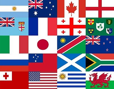 Rugby World Cup 2019 Japan - 20 5' x 3' Flag Set