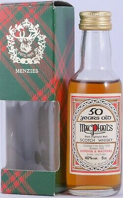 MacPhail´s 1939 50 Years Miniatur Rare Highland Single Malt Scotch Whisky 40,0%