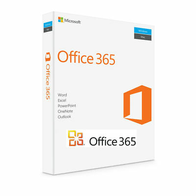 MS Office 365 Home Personal 2016 Pro Lifetime License 5 Users PC Mobile Download