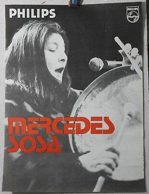 Affiche Originale ✤ MERCEDES SOSA / Philips ✤ 1975