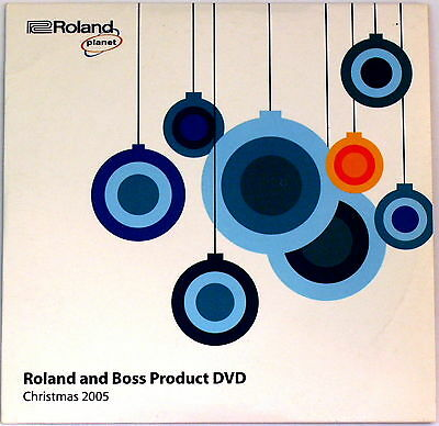 Roland & Boss Prodotto DVD Natale 2005 Gr-20 Chitarra Synth Drums Boss Gt-8