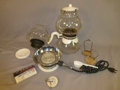 Vintage Silex Glass Coffee Maker Pot Percolator w/ Extra Bowl & Filters