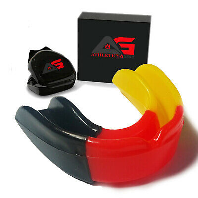 AG Professional Gel Boxing Gum Shield & Mouth Guard MMA Rugby Mouthpiece Teeth