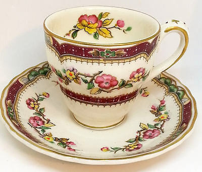 Grindley Demitasse Cup & Saucer, English China Floral Pattern