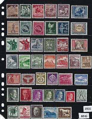 Mint-MNG Stamp set / Adolph Hitler / Nazi Swastika / Third Reich / MNG stamps
