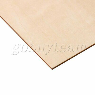 20x20cm Unfinished Blank Wooden Sheets Craft Building Model 1.5mm Thick Set of 5