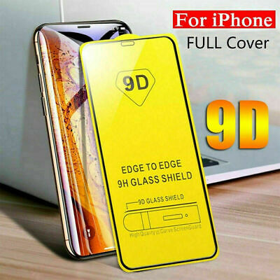 10D Curved Full Cover Tempered Glass Screen Protector For iPhone 7 8 X XR XS MAX
