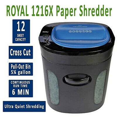 ROYAL 1216MX Electric Crosscut 12 Sheet & Credit Card Shredder with Casters