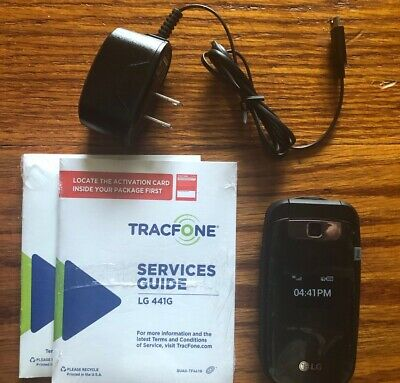 Tracfone LG 441G Prepaid Cell Phone with Charger Minutes Flip Phone