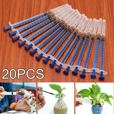 20Pcs 1ml Plastic Disposable Injector Syringe For Hydroponics Measuring Nutrient