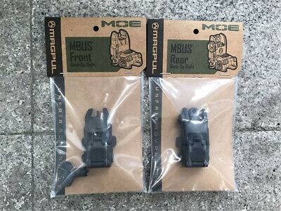 Magpul Gen2 Front and Rear Flip Sights MAG247MAG248BLK - Black