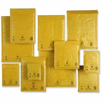 Genuine Mail Lite Padded Bubble Envelopes Mailer Mailing Bags All Sizes Gold