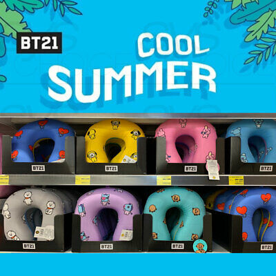 BTS BT21 Official Authentic Goods Mesh Neck Pillow 7Characters By Narahome Deco