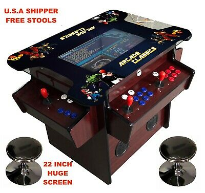 ✅ 4 PLAYER Cocktail Arcade Machine🔥1162 Classic Games ✅ GORGEOUS WOOD 165LBS!!