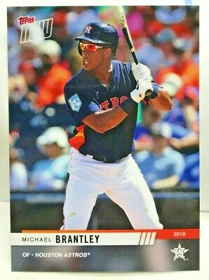 Michael Brantley 2019 Topps Now HOUSTON ASTROS Road To Opening Day#OD-159 SP/309