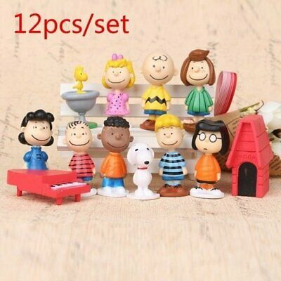 Brand New 12pcs/set Charlie Brown and the rest of The Peanuts Gang