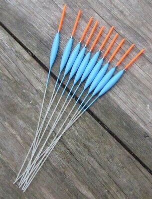 HAND MADE POLE FLOATS 10 F1 SUPER SLIMS MAD SUMMER PRICES 1.5mm 25mm tip