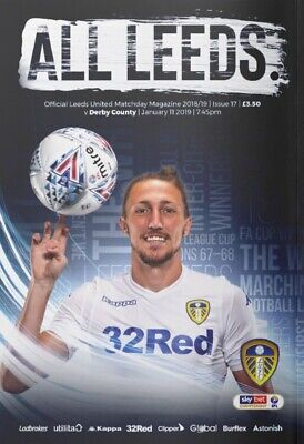 Leeds United v Derby County 2018/19 brand new football programme