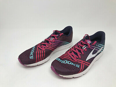 70d2ee7069f BROOKS WOMEN'S HYPERION Purple-Blue-Yellow Running Shoes SIZE 8 EUR ...