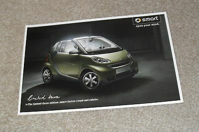 Smart ForTwo Limited Three Special Edition Brochure 2009