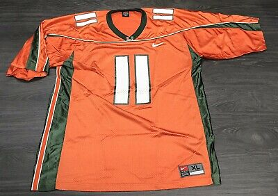 4088158d0c9 Vintage UM Miami Hurricanes NCAA Football Ken Dorsey Jersey Men's XL Nike