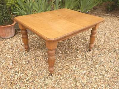 Dining table, extending, solid oak, Edwardian, antique, strong and solid.