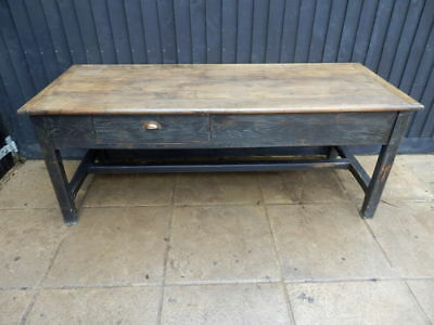 Dining table, Kitchen preparation table, solid oak, Victorian, antique,