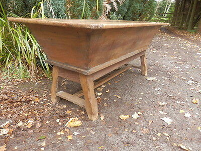 Coffer, trunk, chest, solid oak, 18th century, antique. Dough bin. Side table.