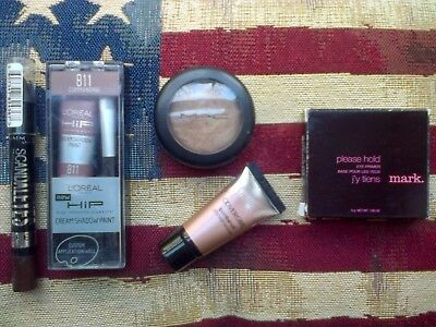 MAC Richmetal La Mode Highlighter, Covergirl/HIP/Rimmel Eyeshadows & Mark Primer