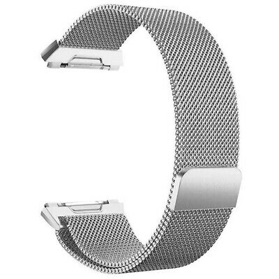 For Fitbit Ionic Bands Large Replacement Magnetic Loop Strap Stainless Stee W1R8