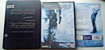 Terminator 2 Judgment Day T2 Limited Edition Black Tin Steel Book DVD REGION 2