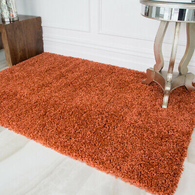 SMALL X EXTRA LARGE THICK  5cm HIGH PILE PLAIN SOFT NON-SHED MODERN SHAGGY RUGS