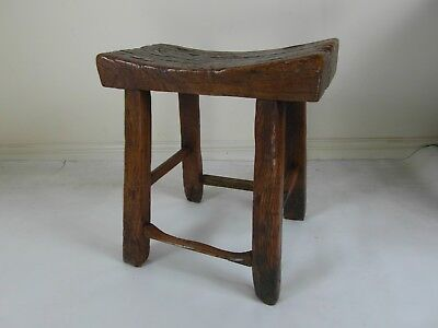 Antique 18th / 19th century provincial stool, bench