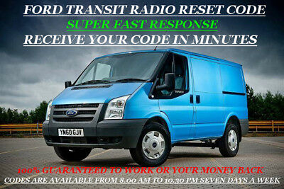 Ford Transit Radio Unlock Codes For V Or M Serial Numbers  Only 99P