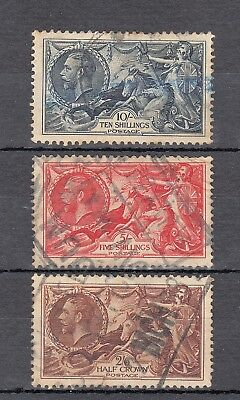 GV George V 1934 Re Engraved Seahorses Set Used SG452 Blue SG451 SG450 GB