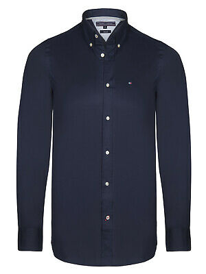 Slim Fit Tommy Hilfiger Cotton Stretch Long Sleeve Oxford Shirts for Men