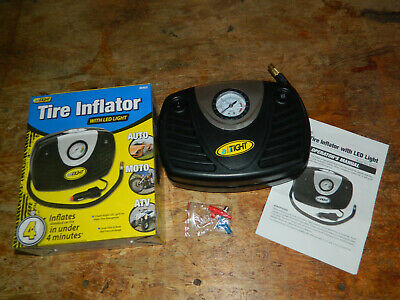 Airtight 60402 Tire Inflator & Led Light Inflates Car Tire In Under 4 Minutes