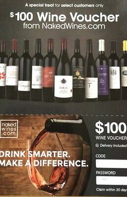 $100 Wine Voucher Nakedwines.com Delivery included USA